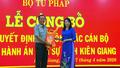 Công bố quyết định bổ nhiệm Cục trưởng Cục thi hành án dân sự Kiên Giang