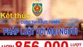"""Kết thúc Cuộc thi trực tuyến """"Pháp luật với mọi người"""": hơn 856.000 lượt dự thi"""