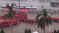 """Gần 4.000 người xếp hình hoa sen khổng lồ trong ngày hội """"Giọt hồng tri ân"""""""