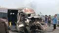 Dân đốt đồng, khói mù mịt, hàng loạt xe ô tô đâm nhau trên đường cao tốc