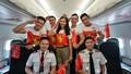 Toàn thể người thân của đội bóng nữ SEA Games cũng được bay miễn phí trên 130 đường bay cùng Vietjet