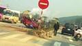 Container đâm liên hoàn hai ô tô con, 7 người nhập viện