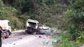 Xe chở khách Việt nổ trên đất Lào, ít nhất 8 người thiệt mạng