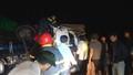Xe tải tông xe đầu kéo bay xuống ruộng, 4 người trọng thương