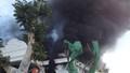 Cháy tòa nhà 2 tầng đang thi công, may mắn 15 công nhân không bị thương