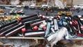 Kinh hoàng cảnh tượng hàng chục xe tải đâm nhau trên đường Trung Quốc