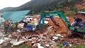 Sạt lở vùi 10 căn nhà ở Nha Trang, ít nhất 2 người chết