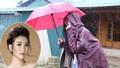 Hoa hậu Mỹ Linh bị cô lập vì lũ lụt ở Yên Bái