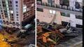 Hàng loạt cục nóng điều hòa rơi xuống khu vui chơi trẻ em ở chung cư An Bình Plaza