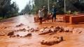 Vỡ đập nhà máy tuyển quặng Tây Bắc, bùn đỏ tràn vào nhà dân