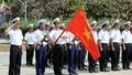 Cử hành Nghi lễ chào cờ tại cột mốc chủ quyền trong Lễ khai giảng ở Trường Sa