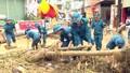 Bộ đội, dân quân nỗ lực giúp người dân khắc phục hậu quả mưa lũ