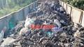 Bắt xe container đổ trộm chất thải rắn nguy hại