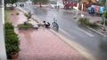 Hành động đẹp của cậu học trò dưới mưa