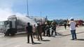 Quảng Nam: Cháy xe dữ dội gần trạm thu phí