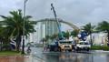 Đà Nẵng mưa to, gió giật cấp 9, loạt cây xanh, pano trang trí APEC bị ngã đổ