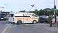 Xe cứu thương chở bệnh nhân về quê bị tai nạn, 5 người trọng thương
