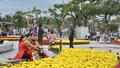 Đà Nẵng: Rực rỡ đường hoa và ngộ nghĩnh linh vật trâu trang trí