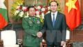 Chủ tịch nước Trần Đại Quang tiếp Thống tướng Myanmar