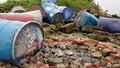 Điều tra vụ xe tải đổ cả chục thùng nghi chứa chất độc hại xuống sông Hồng