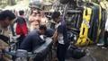 Xe tải chở bia gây tai nạn hất tung 17 chiếc xe máy trên phố Đà Lạt