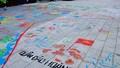 Tấm bản đồ lãnh thổ Việt Nam tự vẽ của học sinh mầm non