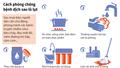 Infographic: Sau lũ lụt, cần phòng, chống bệnh tật như thế nào?