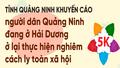 Khuyến cáo người dân Quảng Ninh đang ở Hải Dương thực hiện nghiêm quy định cách ly