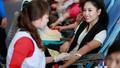 HH biển Nguyễn Thị Loan hạnh phúc khi được hiến máu cứu người