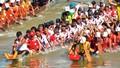 Sông quê Đại tướng Võ Nguyên Giáp dậy sóng thuyền đua mừng Tết Độc lập