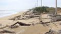 Sóng lớn 'ngoạm nát' hàng trăm mét kè đê biển ở Quảng Bình