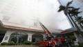 Diễn tập phương án chữa cháy ở Khách sạn Hà Nội Daewoo