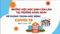 Những việc học sinh cần làm ngay để phòng, chống dịch Covid-19