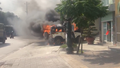Quảng Ninh: Xe ô tô bốc cháy trước trụ sở Công an phường