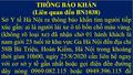 Sở Y tế Hà Nội ra thông báo khẩn liên quan đến BN1038