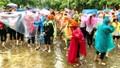 500 học sinh, giáo viên và nhân viên Quảng Nam tham gia diễn tập ứng phó sóng thần