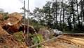 Vĩnh Phúc: Hàng trăm m³ đất đá sạt lở tại đường lên Tam Đảo