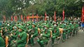 Xúc động lễ tiễn tân binh quận Hai Bà Trưng lên đường nhập ngũ