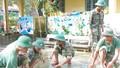 Hơn 100 cán bộ, chiến sĩ tham gia khắc phục lũ lụt tại Quảng Điền