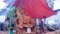 Hà Tĩnh: Hoàn thành bức tượng gỗ Nguyễn Du lớn nhất Việt Nam