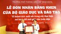Vinschool vinh dự đón nhận bằng khen của Bộ Giáo dục và Đào tạo