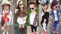 Phối đồ sành điệu cho con từ mẫu các fashionista nhí