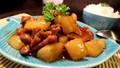 Đưa cơm với thịt kho củ cải