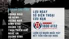 1800 6132 - Đường dây nóng cứu trợ bão số 9 miễn phí, 24/7
