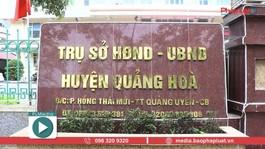 """Quảng Hòa - Cao Bằng: Gian truân con đường đấu thầu """"sạch"""""""