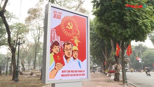 Hà Nội rực rỡ trước ngày khai mạc Đại Hội Đảng lần thứ XIII