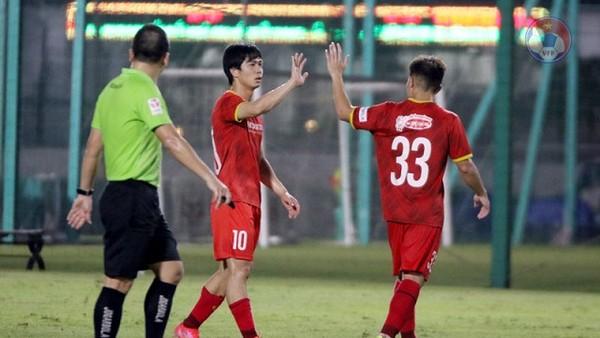 ĐT Việt Nam thắng U22 cả 2 trận giao hữu