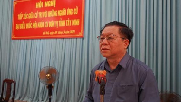 """Trưởng Ban Tuyên giáo Trung ương xác định """"thực hiện tốt quan điểm dân làm gốc"""" nếu trúng cử ĐBQH"""