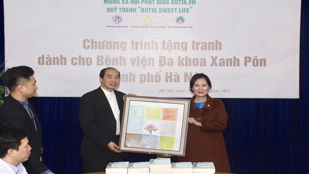"""Quỹ tranh """"Buttta sweet Life"""" trao tặng 50 bức tranh cho Bệnh viện Xanh Pôn"""