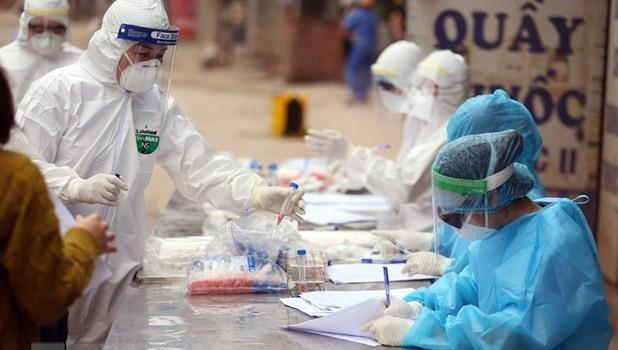Hải Dương xét nghiệm COVID-19 cho 43.000 công nhân huyện Cẩm Giàng
